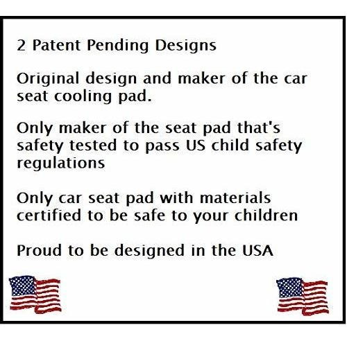 BreezyPad Baby Car Seat Cooling Pad Liner with Fan Front Facing Car Seat Only Pink by Breezy Kids