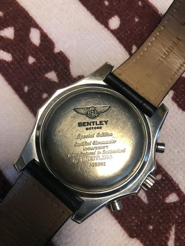 breitling bentley 47mm automatic novo -usado