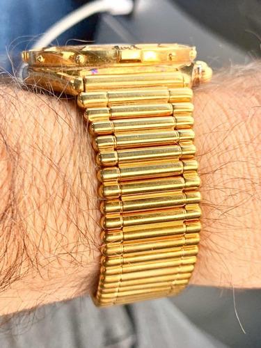 breitling j class chrono 41mm todo ouro 18 k aceito trocas