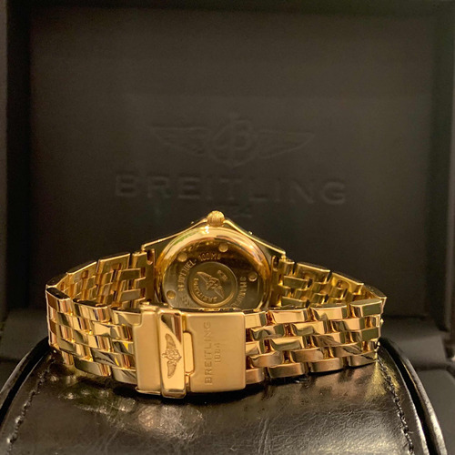 breitling windrider sirius todo ouro com diamantes !!!