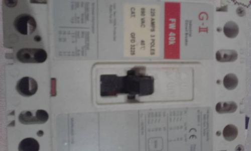 breker industrial  modelo f1 225 amp 3 poles  2g ii