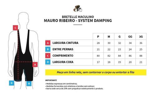 bretelle ciclismo system damping mauro ribeiro masculino 2.0