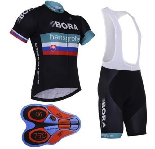 bretelle e camisa ciclismo equipe - bora hansgrohe