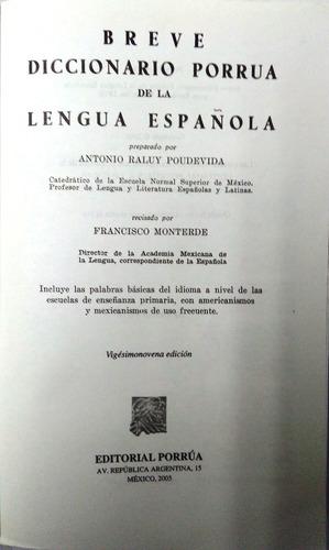 breve diccionario porrúa de la lengua española