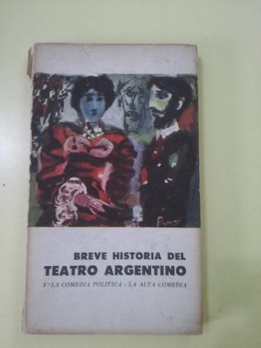 breve historia del teatro argentino la comedia política