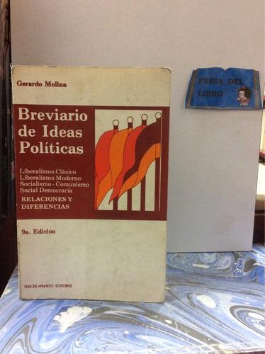 breviario de ideas políticas. gerardo molina