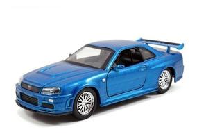 Nissan Skyline GT-R r34 2002 plata brian Fast /& Furious maqueta de coche 1:24 jada