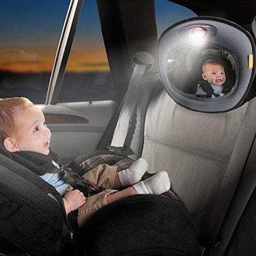 brica day y night light auto espejo musical para la segurida