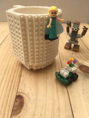 brick pocillo mug compatible con lego