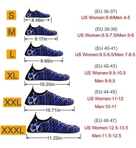 bridawn zapatos de agua de secado rápido calce