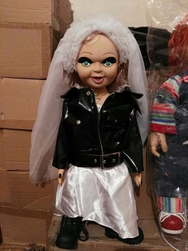bride of chucky collectors tiffany plush doll & stand bundle