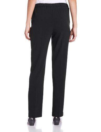 briggs new york womens flat front pull en pantalón con solu