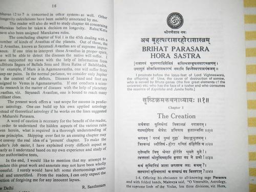 brihat parashara hora shastra astrologia vedica vol. i & il