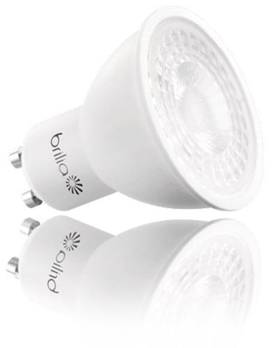 brilia - lâmpada dicroica led gu10 6,5w 2700k bivolt - 10pçs