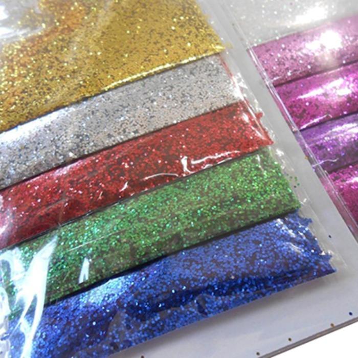 Brillantina Escarcha De Colores Excelente X 24 Bolsitas