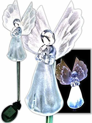 brilliant & mo juego de 2gorgeous frosty ángel solar luces