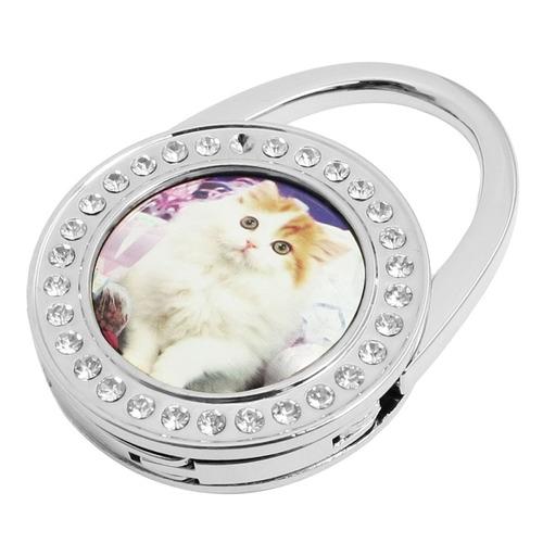 brillo de diamantes de imitación gato persa monedero