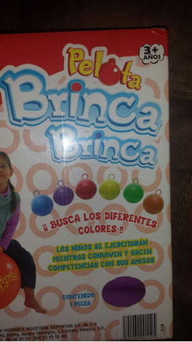 brinca brinca, pelota mi alegria. color anaranjado.