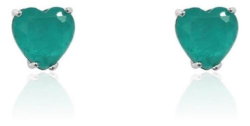 brinco andreza mota coração verde luxo festa 15anos presente