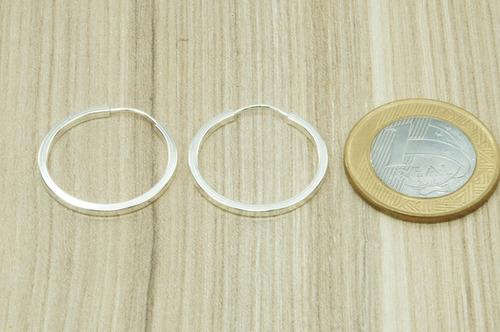 brinco argola 24 mm (m1,9) prata 925