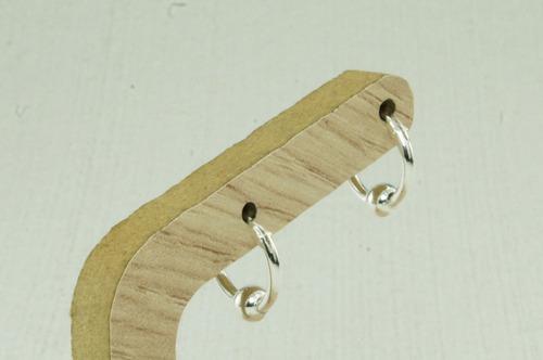 brinco argola bola 11 mm unissex (l0,8) prata 925
