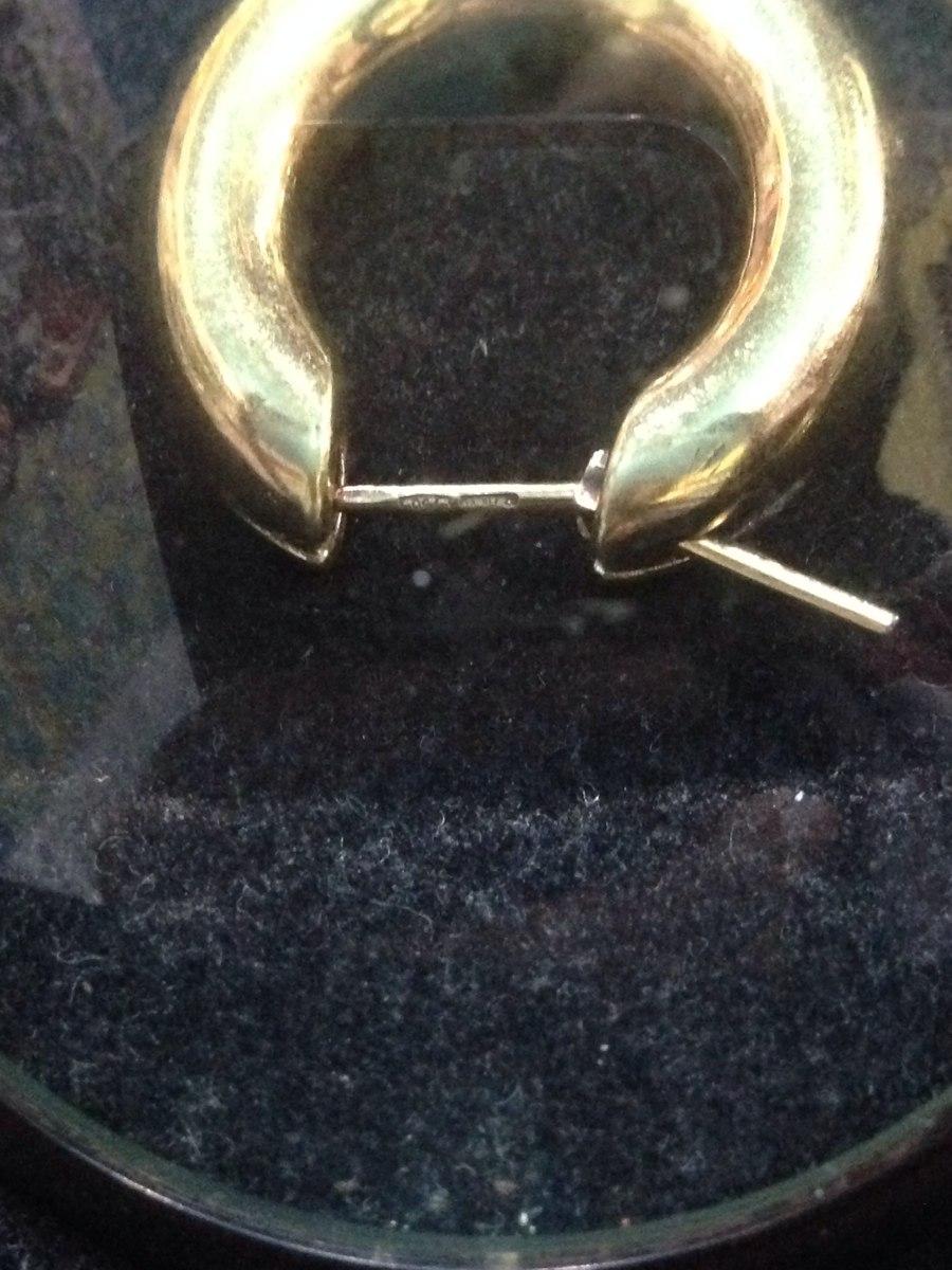 a4e93cd5672 brinco argola de ouro 750 - made in italy. Carregando zoom.