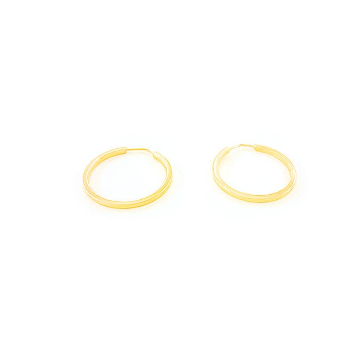 brinco argola em ouro 18k amarelo com 1.3mm de diâmetro. Carregando zoom. 29716a37bb