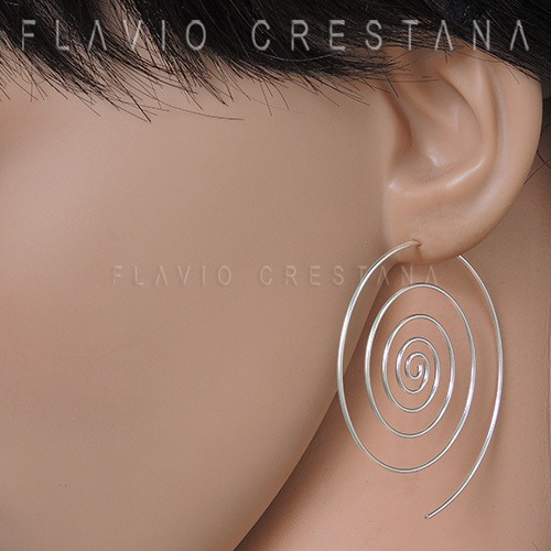 brinco argola espiral, prata 925. indonesia - 21910226