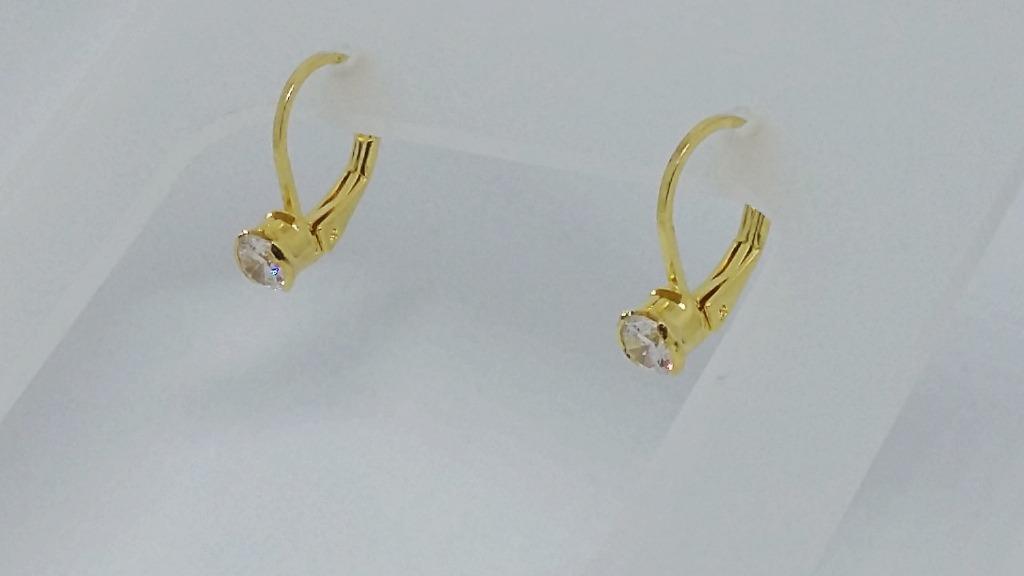 d72c921d80b60 brinco argola infantil folheado ouro 18k diamante sintético. Carregando  zoom.