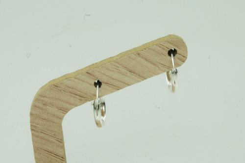 brinco argola masculino 12 mm (me0,8) prata 925 show!