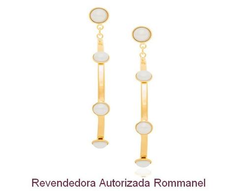 brinco argola pérola rommanel folheado ouro 526043