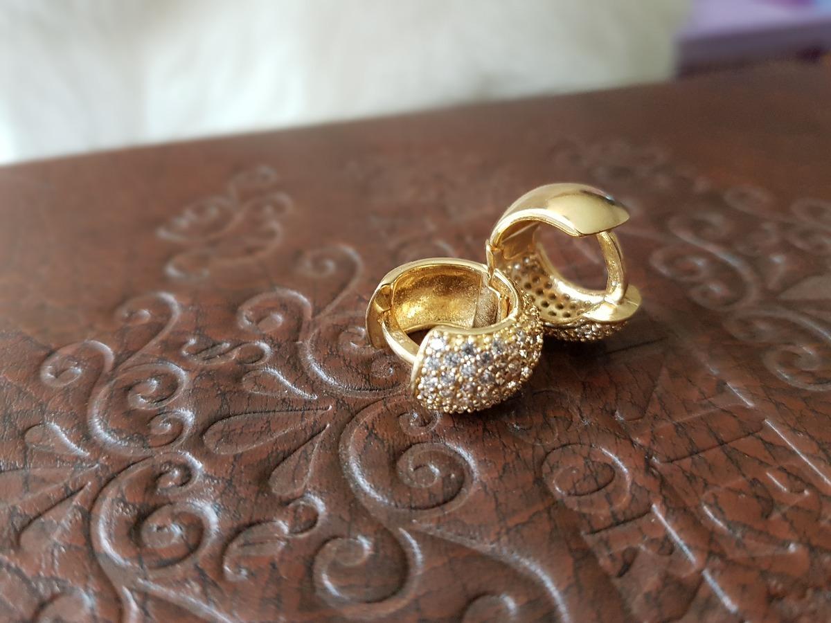57608193adb8c Brinco Argola Premium Feminino Banhado Ouro 18k - R  48,90 em ...