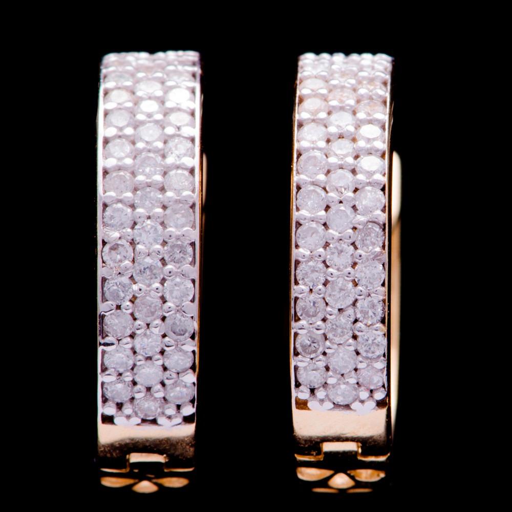 3b875c52caaa9 brinco argola rod. c  80 brilhantes em ouro 18k - 750 3,90gr. Carregando  zoom.