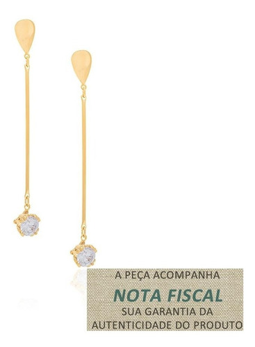 brinco base gota composta palito folhea ouro rommanel 525200