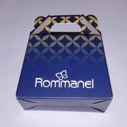 brinco base retângular f ouro rommanel 524677 frete gratis