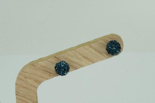 brinco bola 6 mm cristais swarovski (me) prata 925