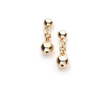 brinco bolas lisas menor na ouro rommanel 523814