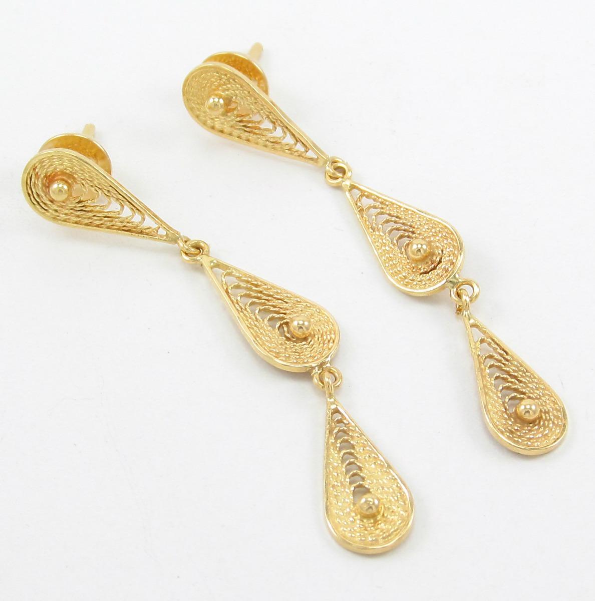 9d1a81d03b4 brinco da grife vivara pendente com filigrana ouro 18k 750. Carregando zoom.