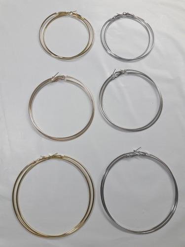 brinco de argola bijuteria atacado 12 pares