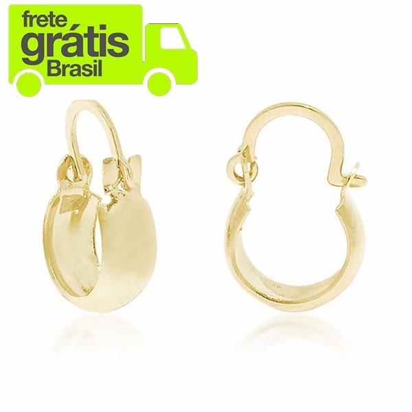 27f8929025e92 Brinco De Argola Feminino Bebê Infantil Banhado A Ouro 18k - R  19,99 em  Mercado Livre