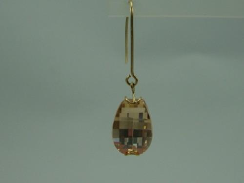 brinco de ouro 18k com pedra preciosa 18k jr joalheiro