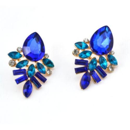 brinco de pedras azul