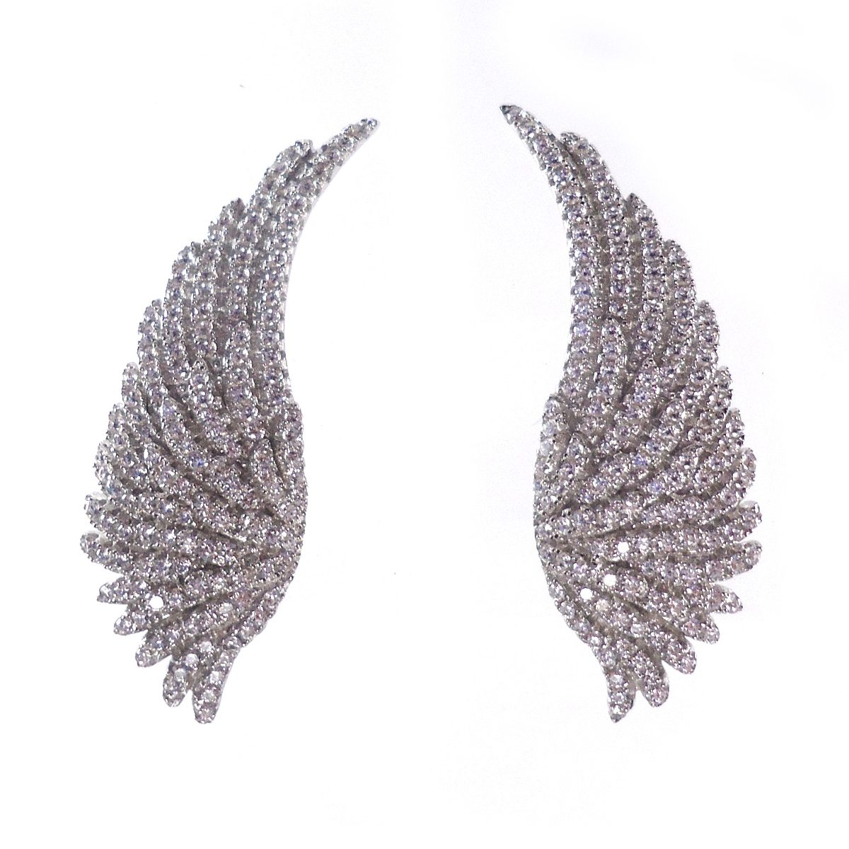 brinco ear cuff asa de prata com zirconias estilo hstern. Carregando zoom. ef5aaf6176