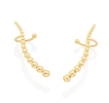 brinco ear cuff bolinhas unidas ouro rommanel 525435