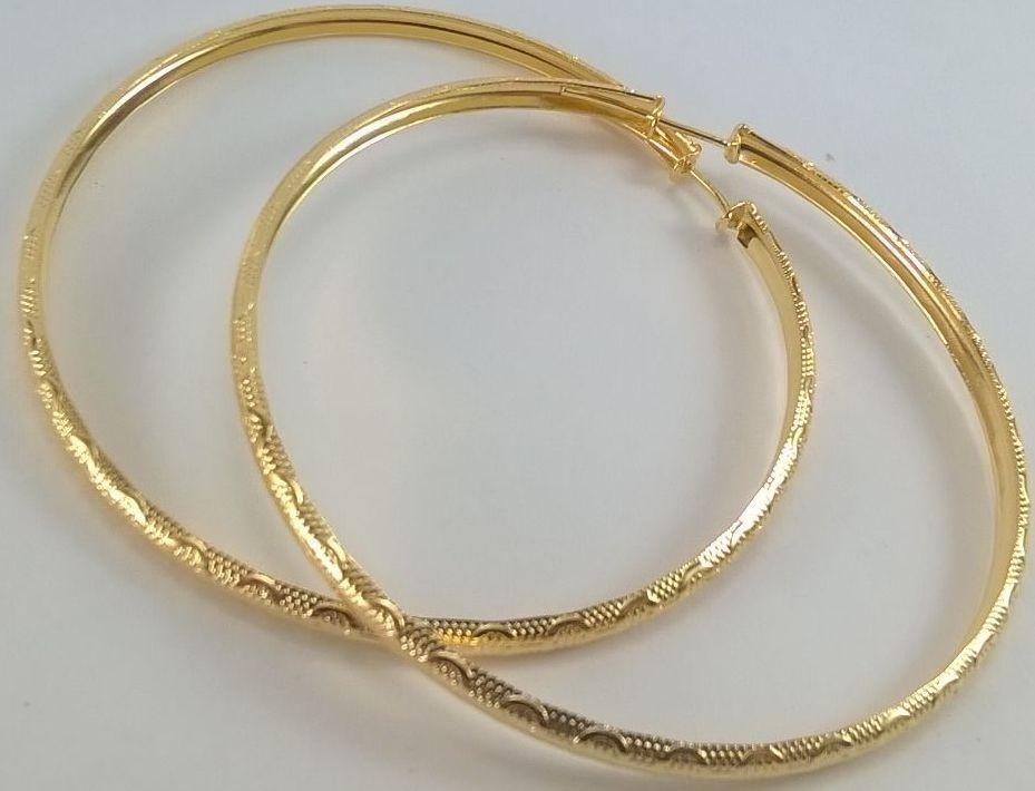344661d6723c7 brinco feminino argola grande folheada ouro 18k frete grátis. Carregando  zoom.