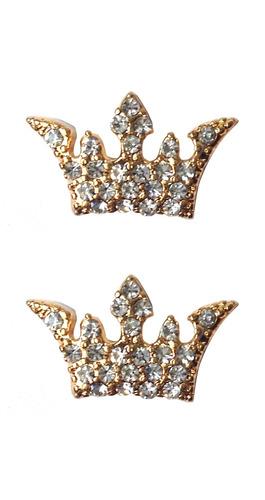 brinco feminino coroa de strass