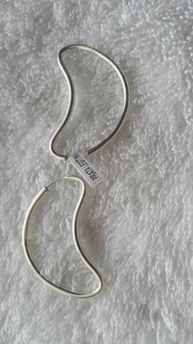 brinco feminino de prata 925 legítima meia lua