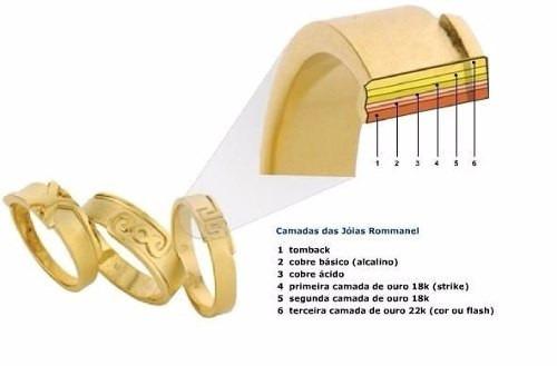 Brinco Festa Rommanel 3 Ouro Coleção Ana Hickmann Med 7,5 Cm - R ... 44225ddaa7