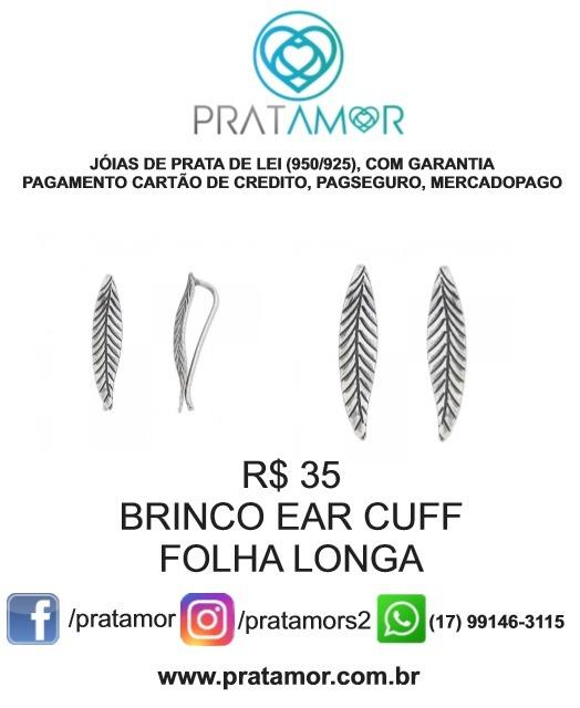 ac4c4ac6054ba Brinco Folha Envelhecida Em Prata - R  35,00 em Mercado Livre
