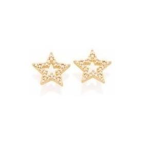 Brinco Formato Estrela Cravejado Por 50 Zircônias